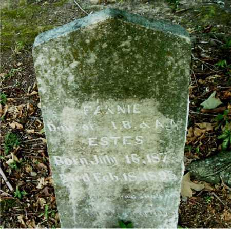 ESTES, FANNIE - Boone County, Arkansas | FANNIE ESTES - Arkansas Gravestone Photos