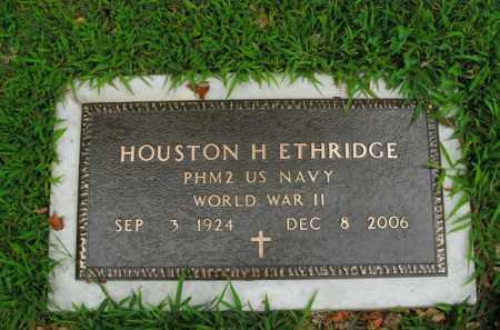 ETHRIDGE  (VETERAN WWII), HOUSTON H. - Boone County, Arkansas | HOUSTON H. ETHRIDGE  (VETERAN WWII) - Arkansas Gravestone Photos