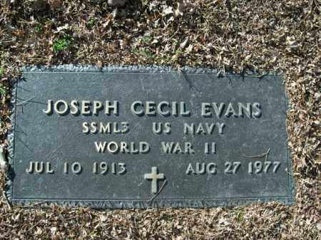 EVANS  (VETERAN WWII), JOSEPH CECIL - Boone County, Arkansas | JOSEPH CECIL EVANS  (VETERAN WWII) - Arkansas Gravestone Photos
