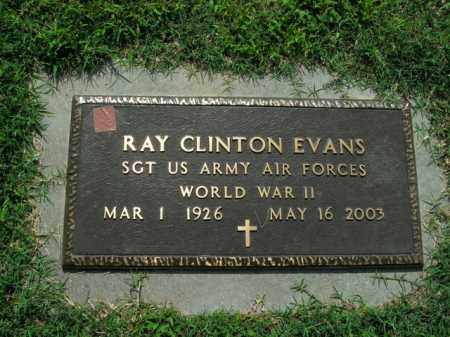 EVANS  (VETERAN WWII), RAY CLINTON - Boone County, Arkansas | RAY CLINTON EVANS  (VETERAN WWII) - Arkansas Gravestone Photos