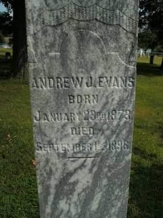 EVANS, ANDREW J. - Boone County, Arkansas | ANDREW J. EVANS - Arkansas Gravestone Photos
