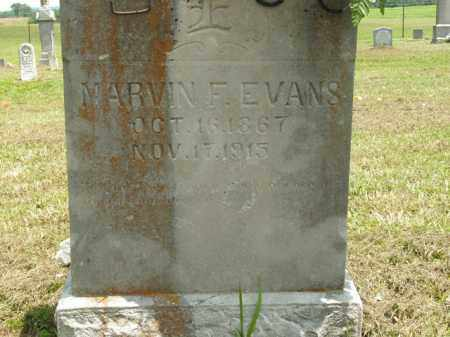 EVANS, MARVIN F. - Boone County, Arkansas | MARVIN F. EVANS - Arkansas Gravestone Photos
