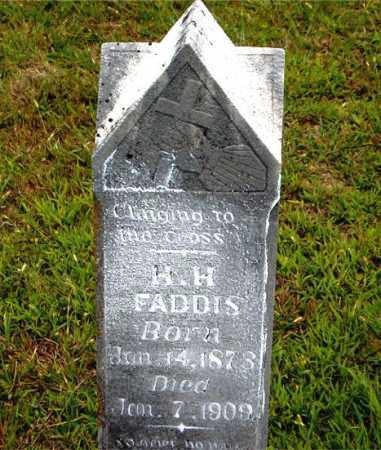 FADDIS, H.  H. - Boone County, Arkansas | H.  H. FADDIS - Arkansas Gravestone Photos