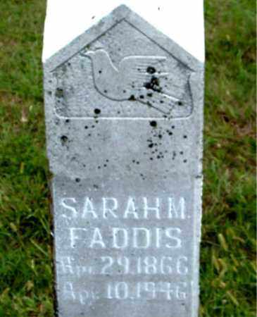 FADDIS, SARAH MELISA - Boone County, Arkansas | SARAH MELISA FADDIS - Arkansas Gravestone Photos