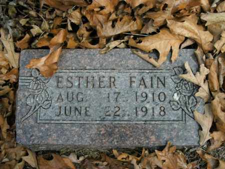 FAIN, ESTHER - Boone County, Arkansas | ESTHER FAIN - Arkansas Gravestone Photos