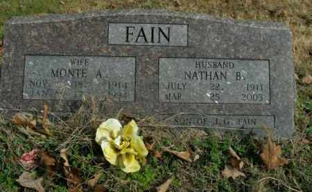 FAIN, MONTE A. - Boone County, Arkansas | MONTE A. FAIN - Arkansas Gravestone Photos