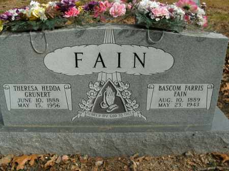 FAIN, THERESA HEDDA - Boone County, Arkansas | THERESA HEDDA FAIN - Arkansas Gravestone Photos