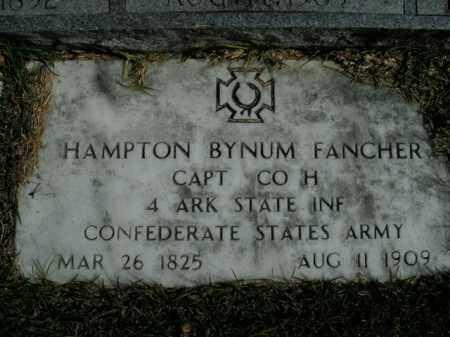 FANCHER  (VETERAN CSA), HAMPTON BYNUM - Boone County, Arkansas | HAMPTON BYNUM FANCHER  (VETERAN CSA) - Arkansas Gravestone Photos