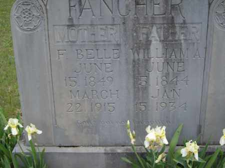 FANCHER, F. BELLE - Boone County, Arkansas | F. BELLE FANCHER - Arkansas Gravestone Photos