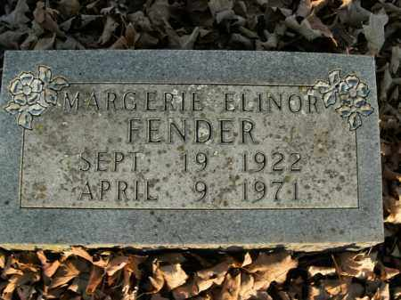 FENDER, MARGERIE ELINOR - Boone County, Arkansas | MARGERIE ELINOR FENDER - Arkansas Gravestone Photos