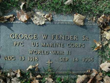 FENDER, SR  (VETERAN WWII), GEORGE W - Boone County, Arkansas | GEORGE W FENDER, SR  (VETERAN WWII) - Arkansas Gravestone Photos
