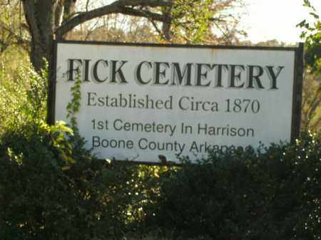 *FICK CEMETERY,  - Boone County, Arkansas |  *FICK CEMETERY - Arkansas Gravestone Photos