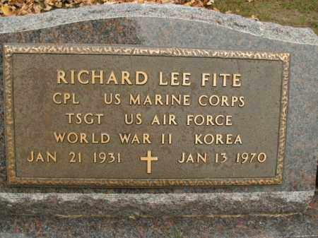FITE  (VETERAN 2 WARS), RICHARD LEE - Boone County, Arkansas | RICHARD LEE FITE  (VETERAN 2 WARS) - Arkansas Gravestone Photos