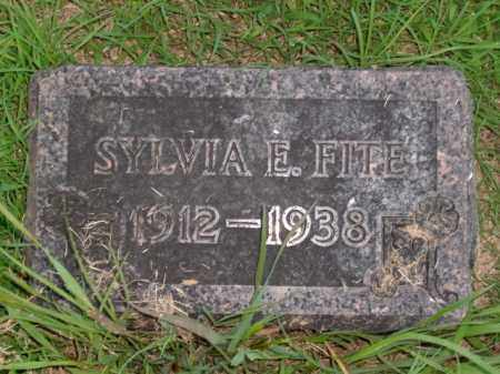 FITE, SYLVIA E. - Boone County, Arkansas | SYLVIA E. FITE - Arkansas Gravestone Photos