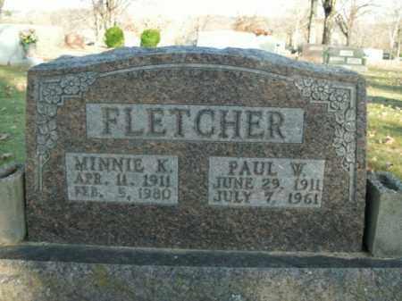 FLETCHER, MINNIE K. - Boone County, Arkansas | MINNIE K. FLETCHER - Arkansas Gravestone Photos