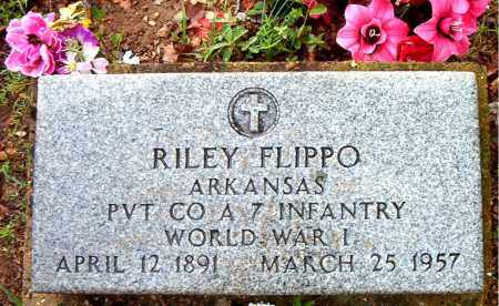 FLIPPO  (VETERAN WWI), RILEY - Boone County, Arkansas | RILEY FLIPPO  (VETERAN WWI) - Arkansas Gravestone Photos