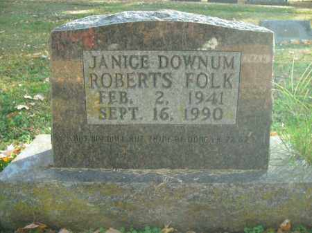 DOWNUM FOLK, JANICE - Boone County, Arkansas | JANICE DOWNUM FOLK - Arkansas Gravestone Photos