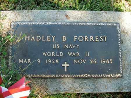 FORREST  (VETERAN WWII), HADLEY BERNARD - Boone County, Arkansas | HADLEY BERNARD FORREST  (VETERAN WWII) - Arkansas Gravestone Photos