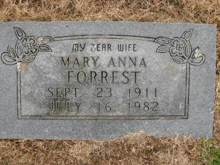 FORREST, MARY ANNA - Boone County, Arkansas | MARY ANNA FORREST - Arkansas Gravestone Photos