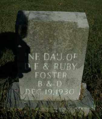 FOSTER, INFANT DAUGHTER - Boone County, Arkansas | INFANT DAUGHTER FOSTER - Arkansas Gravestone Photos