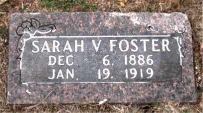 FOSTER, SARAH  V. - Boone County, Arkansas | SARAH  V. FOSTER - Arkansas Gravestone Photos