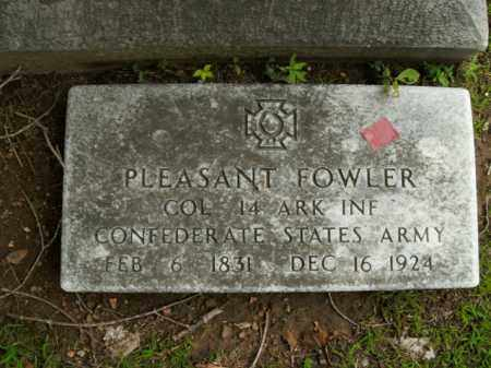 FOWLER  (VETERAN CSA), PLEASANT - Boone County, Arkansas | PLEASANT FOWLER  (VETERAN CSA) - Arkansas Gravestone Photos