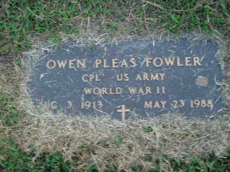 FOWLER  (VETERAN WWII), OWEN PLEAS - Boone County, Arkansas | OWEN PLEAS FOWLER  (VETERAN WWII) - Arkansas Gravestone Photos