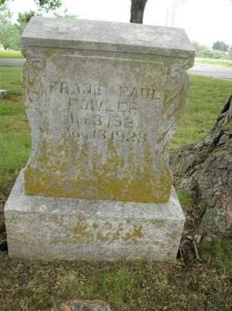 FOWLER, FRANK PAUL - Boone County, Arkansas | FRANK PAUL FOWLER - Arkansas Gravestone Photos