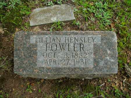 FOWLER, LILLIAN HENSLEY - Boone County, Arkansas | LILLIAN HENSLEY FOWLER - Arkansas Gravestone Photos