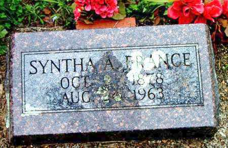 FRANCE, SYNTHA  A. - Boone County, Arkansas | SYNTHA  A. FRANCE - Arkansas Gravestone Photos