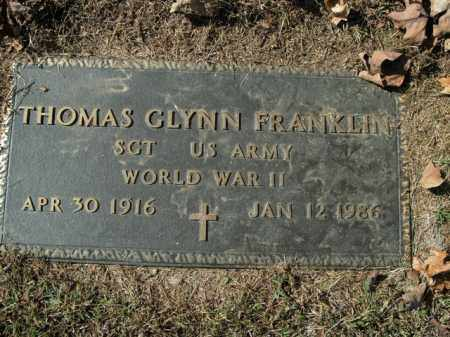 FRANKLIN  (VETERAN WWII), THOMAS GLYNN - Boone County, Arkansas | THOMAS GLYNN FRANKLIN  (VETERAN WWII) - Arkansas Gravestone Photos