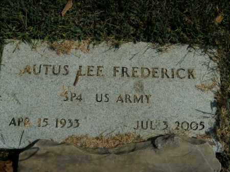 FREDERICK  (VETERAN), AUTUS LEE - Boone County, Arkansas | AUTUS LEE FREDERICK  (VETERAN) - Arkansas Gravestone Photos