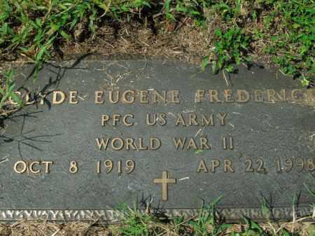 FREDERICK  (VETERAN WWII), CLYDE EUGENE - Boone County, Arkansas | CLYDE EUGENE FREDERICK  (VETERAN WWII) - Arkansas Gravestone Photos