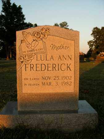 FREDERICK, LULA ANN - Boone County, Arkansas | LULA ANN FREDERICK - Arkansas Gravestone Photos