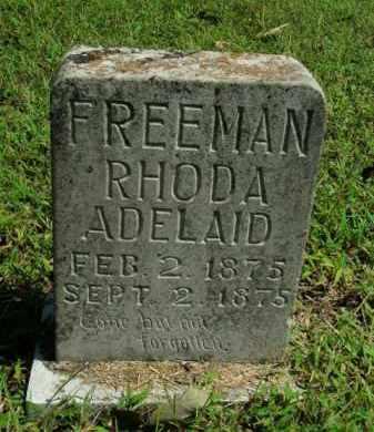 FREEMAN, RHODA ADELAID - Boone County, Arkansas | RHODA ADELAID FREEMAN - Arkansas Gravestone Photos