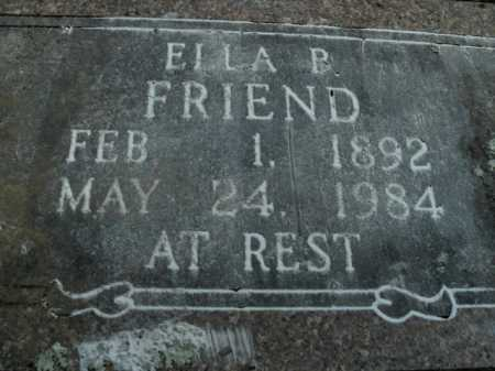 FRIEND, ELLA B. - Boone County, Arkansas | ELLA B. FRIEND - Arkansas Gravestone Photos