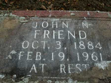 FRIEND, JOHN N. - Boone County, Arkansas | JOHN N. FRIEND - Arkansas Gravestone Photos