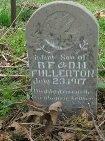 FULLERTON, INFANT SON - Boone County, Arkansas | INFANT SON FULLERTON - Arkansas Gravestone Photos