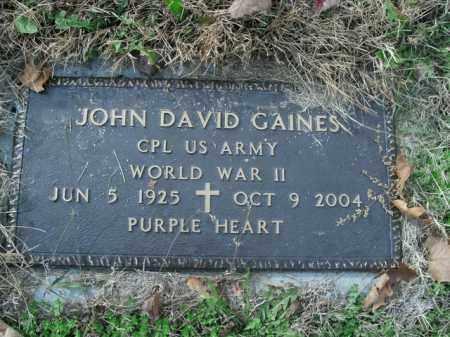 GAINES  (VETERAN WWII), JOHN DAVID - Boone County, Arkansas | JOHN DAVID GAINES  (VETERAN WWII) - Arkansas Gravestone Photos