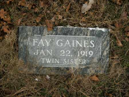 GAINES, FAY - Boone County, Arkansas | FAY GAINES - Arkansas Gravestone Photos