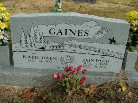 GAINES, JOHN DAVID - Boone County, Arkansas | JOHN DAVID GAINES - Arkansas Gravestone Photos