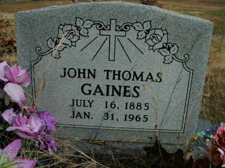 GAINES, JOHN THOMAS - Boone County, Arkansas | JOHN THOMAS GAINES - Arkansas Gravestone Photos