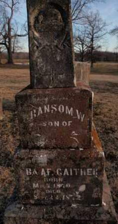 GAITHER, RANSOM W. - Boone County, Arkansas | RANSOM W. GAITHER - Arkansas Gravestone Photos