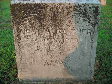 GAITHER, NEAL W. - Boone County, Arkansas | NEAL W. GAITHER - Arkansas Gravestone Photos