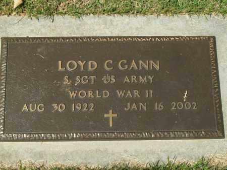 GANN  (VETERAN WWII), LOYD C - Boone County, Arkansas | LOYD C GANN  (VETERAN WWII) - Arkansas Gravestone Photos