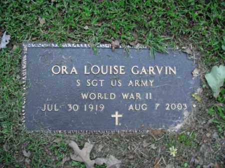 GARVIN  (VETERAN WWII), ORA LOUISE - Boone County, Arkansas | ORA LOUISE GARVIN  (VETERAN WWII) - Arkansas Gravestone Photos