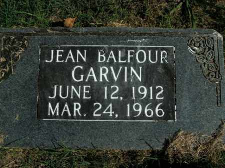 GARVIN, JEAN BALFOUR - Boone County, Arkansas | JEAN BALFOUR GARVIN - Arkansas Gravestone Photos