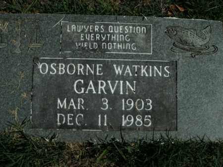 GARVIN, OSBORNE WATKINS - Boone County, Arkansas | OSBORNE WATKINS GARVIN - Arkansas Gravestone Photos