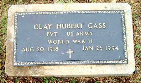 GASS  (VETERAN WWII), CLAY HUBERT - Boone County, Arkansas | CLAY HUBERT GASS  (VETERAN WWII) - Arkansas Gravestone Photos