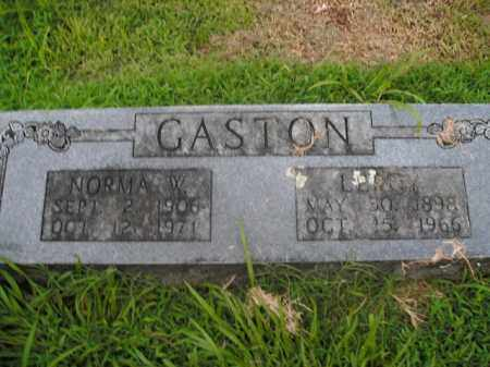 GASTON, NORMA W. - Boone County, Arkansas | NORMA W. GASTON - Arkansas Gravestone Photos